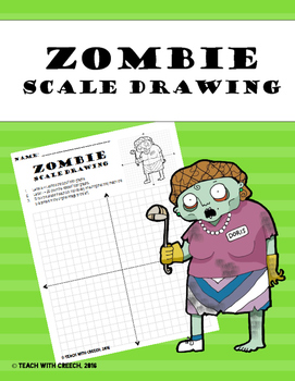Zombie Cafeteria Lady Scale Drawing