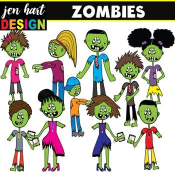 Zombie Clipart Set {Kids & Teachers}