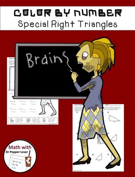 Zombie Color by Number:  Special Right Triangles (45-45-90
