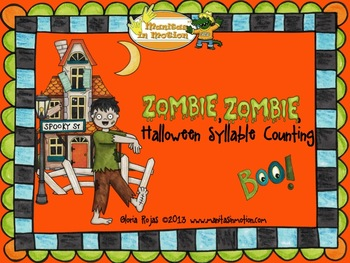 Zombie, Zombie, Halloween Syllable Counting (FREE)