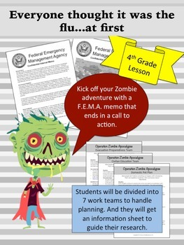 Zombies Invade (4th Grade) Learning Geography through disa