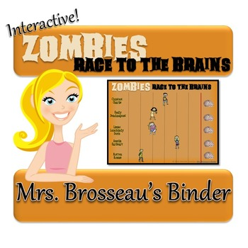 Zombies Race to the Brains: Halloween PowerPoint Review Ga