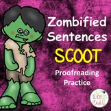 Zombified Sentences SCOOT Proofreading Practice (Cute Zomb