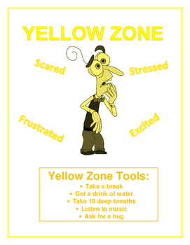 Zones of Regulation- Yellow Zone Poster