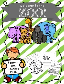 Zoo Unit {Zoo field trip, Zoo Packet, Zoo Passport, Zoo Wo