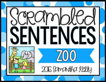 Zoo Scrambled Sentence Station