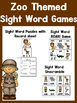 Zoo Activities: Sight Words, Math, Writing, and more!