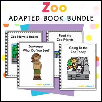 Zoo Adapted Book Bundle: 2 Zoo Adapted Books for Students