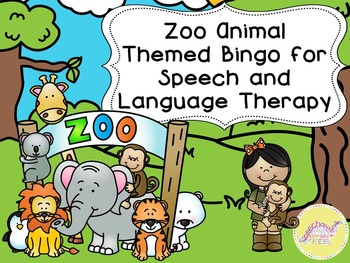 Zoo Animal Bingo for Speech Therapy