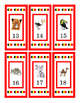 Zoo Animal Counting Cards Numbers 1 to 30 Print Twice for