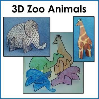 3D Zoo Animal Puzzle Craft