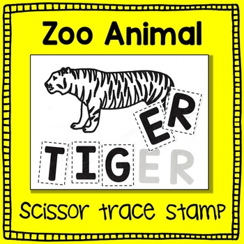Zoo Animal Scissor, Trace and Stamp - A Literacy Center