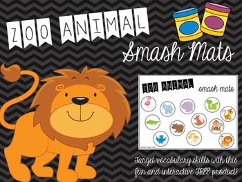 Zoo Animal Smash Mat FREEBIE