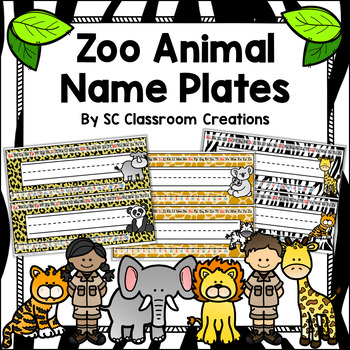 Zoo Animal Themed Name Plates