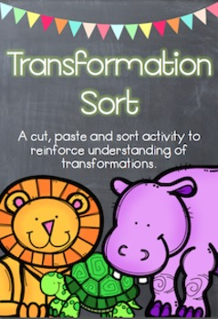 Zoo Animal Transformations - Flips, Slides and Turns