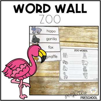 Zoo Animal Word Wall