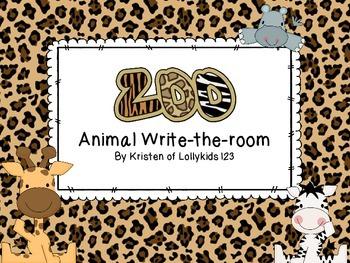Zoo Animal Write-the-room