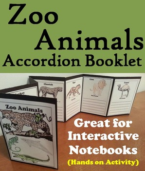 Zoo Animals Activity/ Foldable: Lion, Tiger, Polar Bear, E