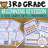 Third Grade Division: 3 Task Card Sets