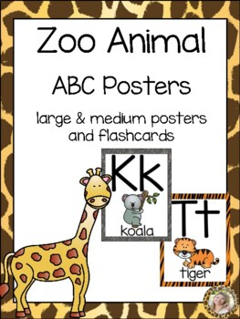 Zoo Animals ABC Posters - Large, Small & Flashcards {Jungl