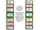 Zoo Animals Behavior Clip Chart {Jungle Safari Theme}