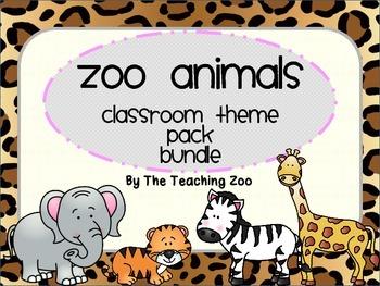 Zoo Animals Bundle - Complete Classroom Pack {Jungle Safar