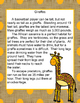 Zoo Animals, Language Arts, Common Core Lessons and Printables