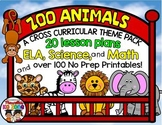 Zoo Animals: MEGA THEME PACK: Lesson plans, Literacy, Math