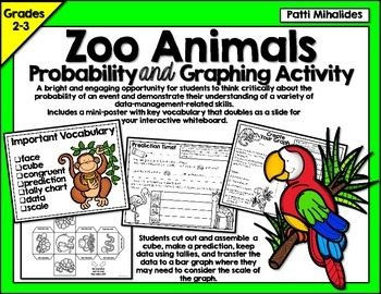 Zoo Animals Probability/Graphing Activity: Hands-On Math f