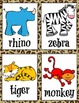 Zoo Animals Syllable Sort (1, 2 and 3 Syllables)