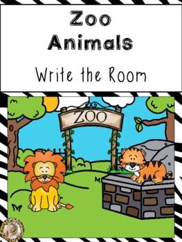 Zoo Animals Write the Room {Jungle Safari Theme}