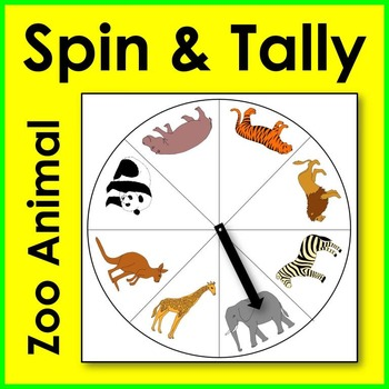 Zoo Animal Spin and Tally Math Center