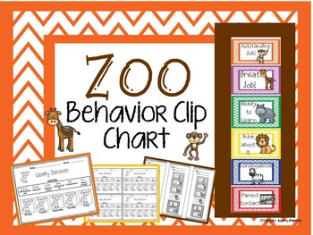Zoo Behavior Clip Chart