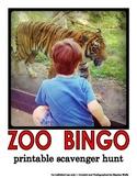 Zoo Bingo Scavenger Hunt