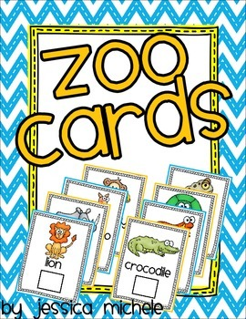 Zoo Cards {Preschool Zoo Passport}