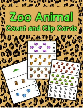 Zoo Count and Clip Cards - Set of 15