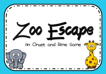 Zoo Escape - Onset and Rime / Word Family Game
