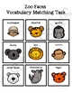 Zoo Faces Vocabulary Folder Game for students with Autism