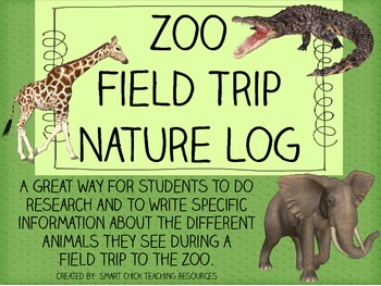 Zoo Field Trip Nature Log Packet ~ Great for Intermediate