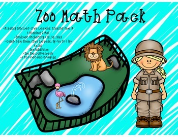 Zoo Math Center Pack