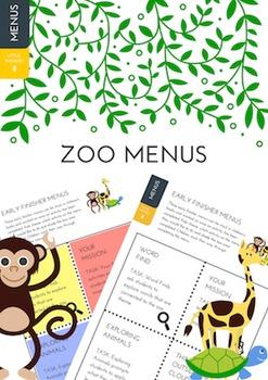 Zoo Menus