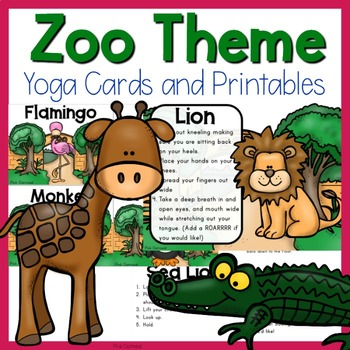 Zoo Themed Yoga Cards