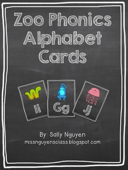 Zoo Phonics Chalkboard Alphabet Cards