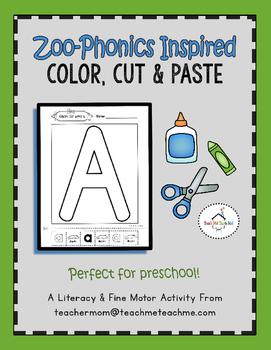 Zoo Phonics - Color, Cut & Paste