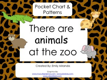 Zoo Pocket Chart and Pattern Pictures