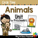 Animal Preschool Centers and Circle Time