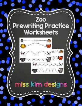 Zoo Prewriting Worksheets