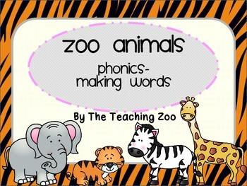 Zoo Safari Phonics - Making Words