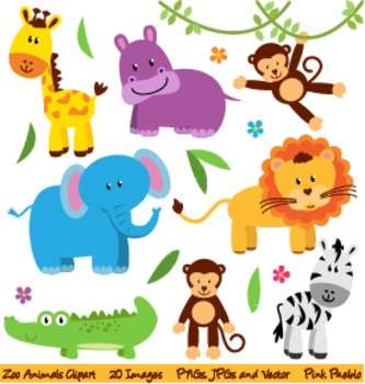 Zoo, Safari and Wild Animals Clipart and Vectors