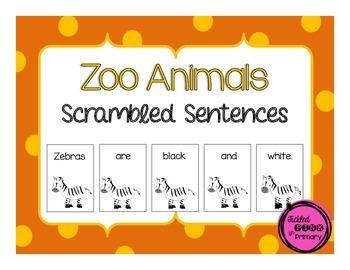 Zoo Scrambled Sentences